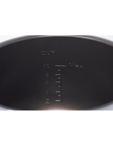 Vista del medidor interior de la cubeta antiadherente con recubrimiento Daikin Diamante.