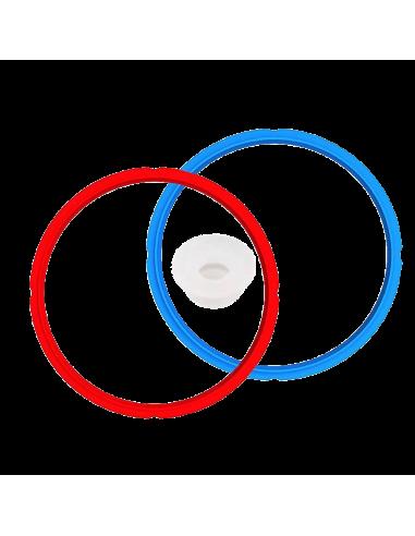 Imagen de las 2 juntas de colores de sellado.