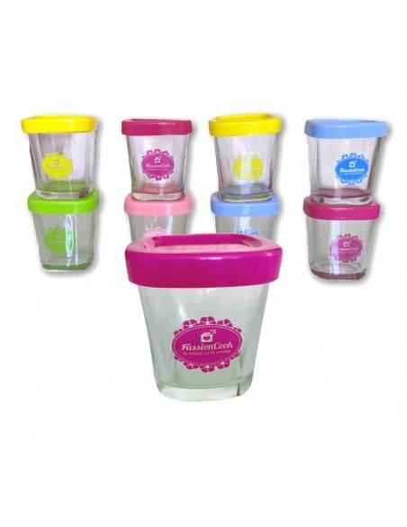 Set de vasos de yogur incluida en la olla Programable FussionCook.