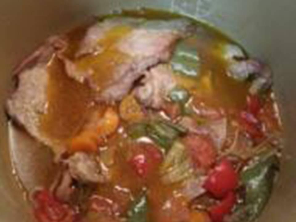 Recetas FussionCook: Carne con pisto al aroma de Pedro Ximénez.