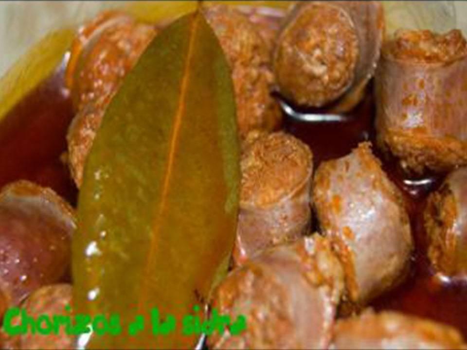 Recetas FussionCook: Chorizos a la sidra.