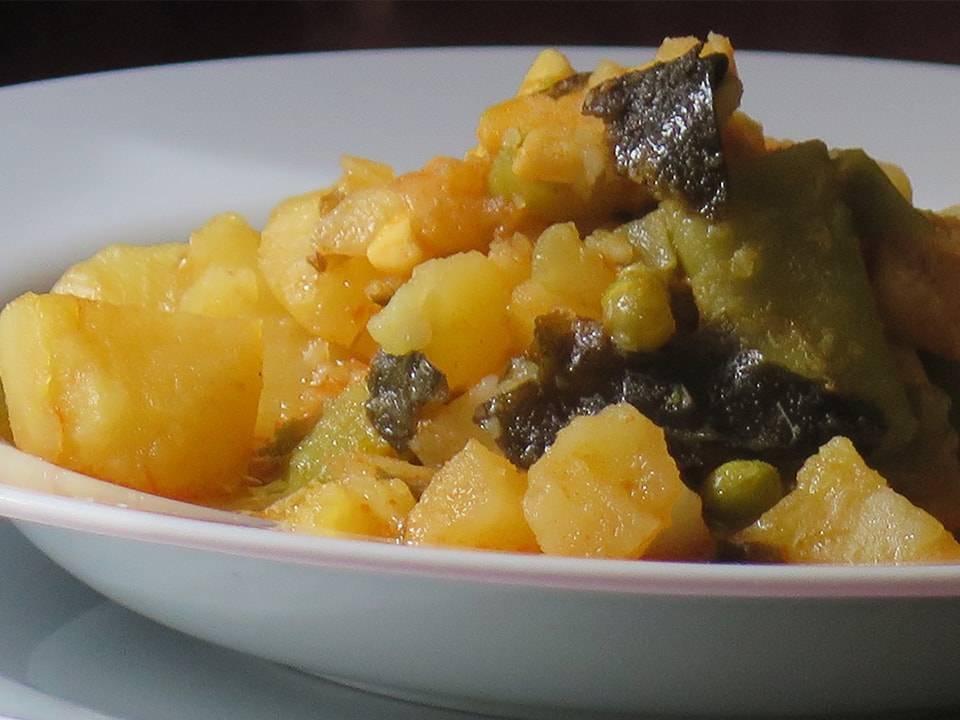 Patatas Con Bacalao Y Wakame