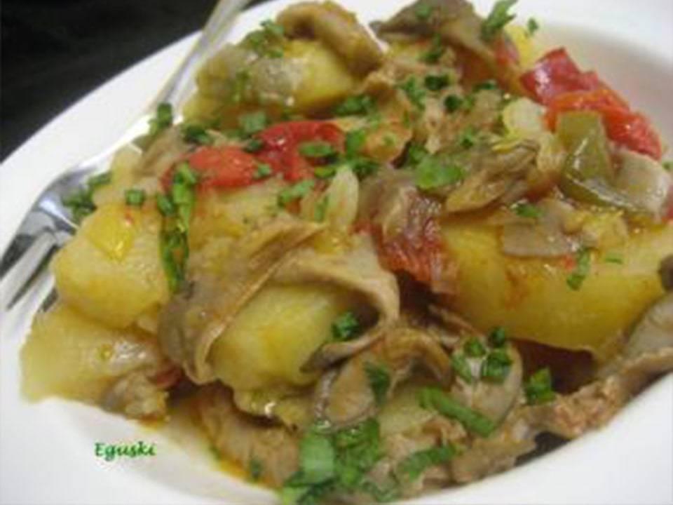 Patatas con setas con FussionCook.