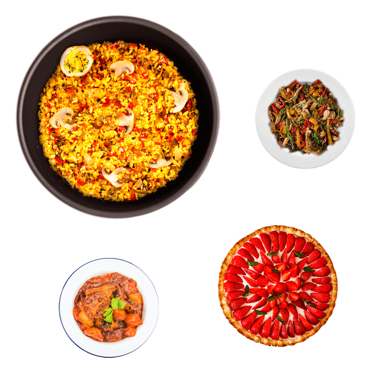 Ejemplo de platos hechos con la olla FC7 Smart