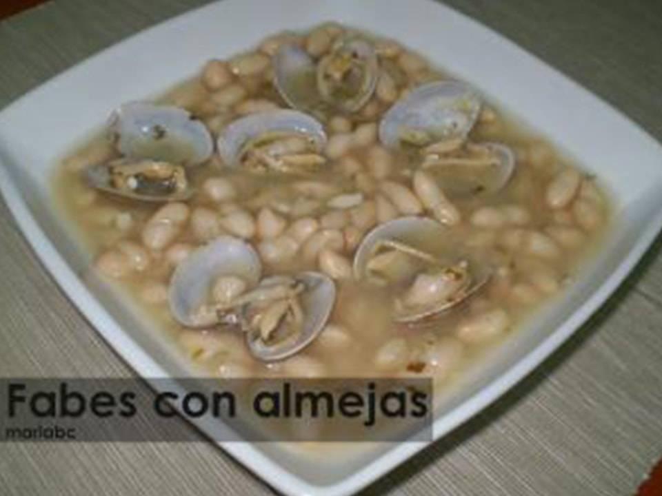 Fabes con Almejas.