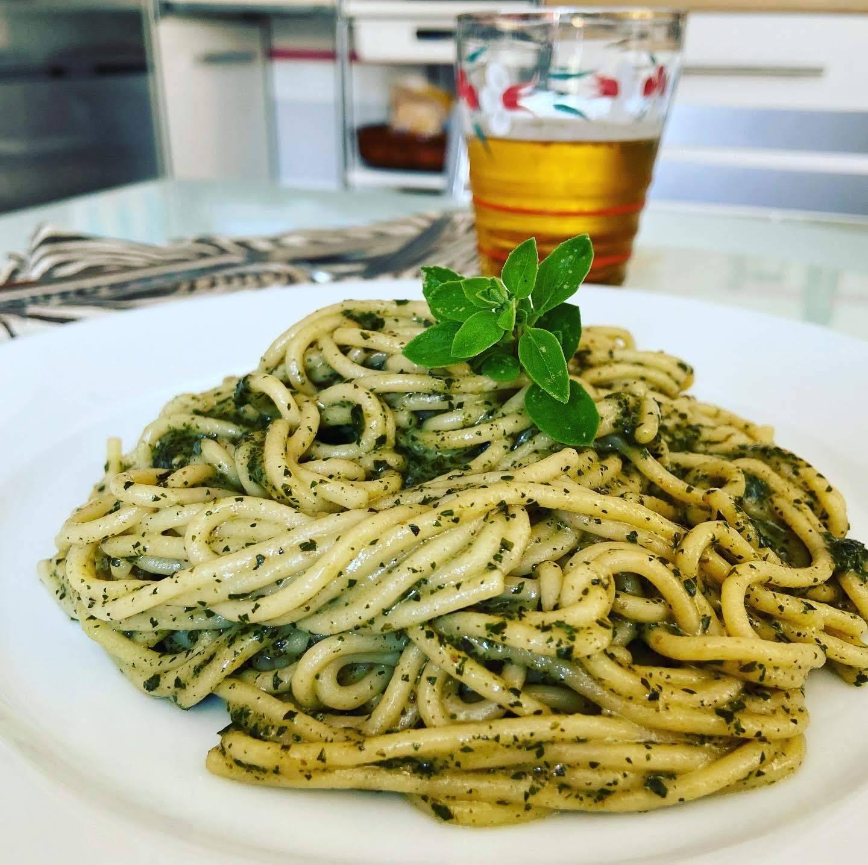 Espaguetis al Pesto.