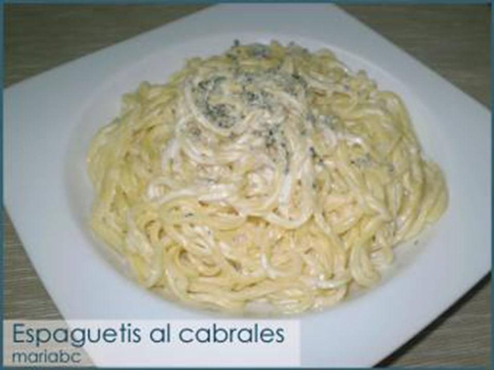 Imagen de un plato espaguetti al cabrales