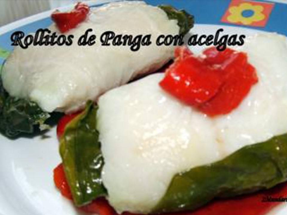 Rollitos de Panga con Acelgas.