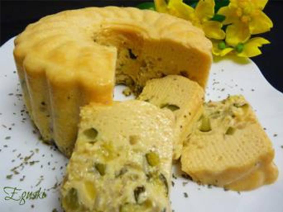 Pudding De Calabacín Y Queso Cremoso