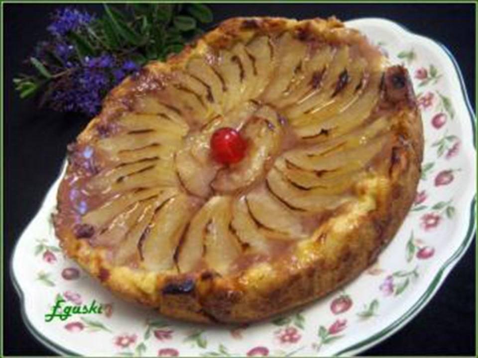 Tarta con Crema de Oporto y Manzana Verde