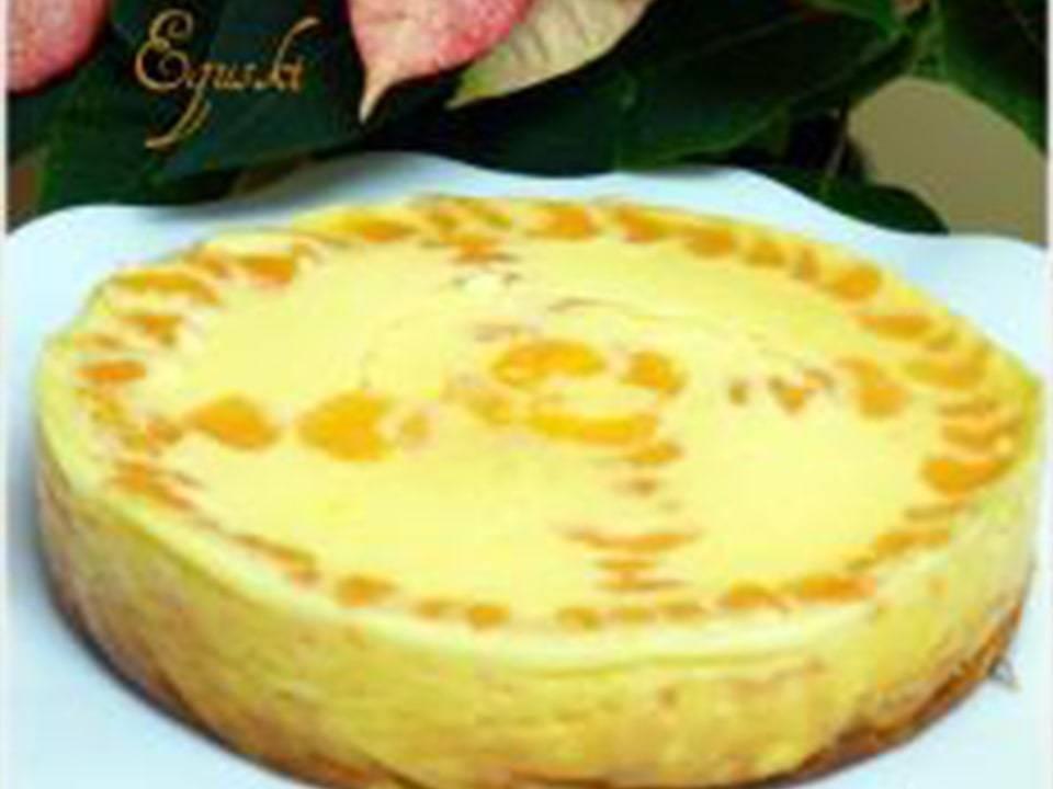 Recetas FussionCook: Tarta de queso batido y mandarina.
