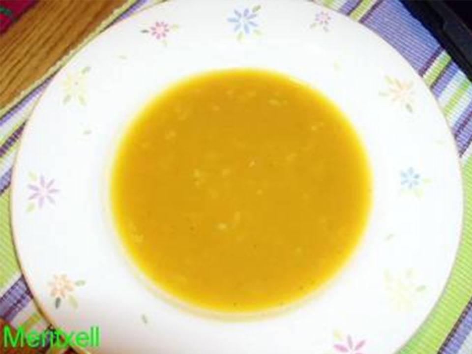 Crema de Verduras de Invierno con Arroz Integral.